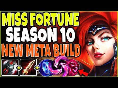 NEW META MISS FORTUNE SEASON 10 BUILD 🔥 DOMINATE EVERYONE EASY 🔥 LoL Miss Fortune Build S10 Gameplay