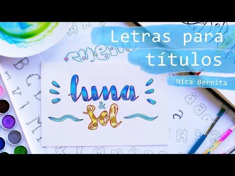 Cómo Hacer Letras Bonitas A Mano Lettering Y Caligrafía