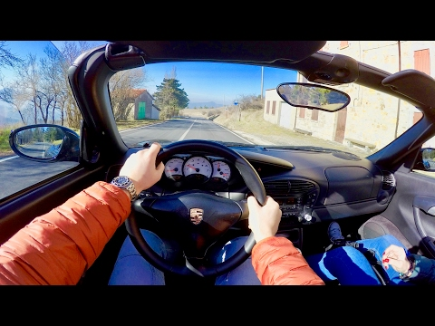 PORSCHE BOXSTER 986 - Twisty Mountain Road Driving POV