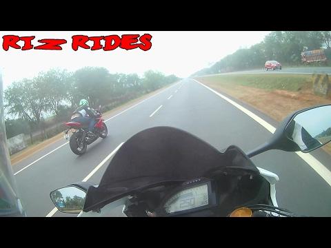 Honda CBR RR vs Triumph Daytona    #rizrides