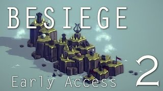Besiege Early Access (ep. 2) - Catapult: Swivel Joints And Contracting Springs