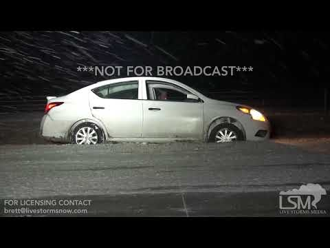 1-16-2018 Steele, Mo to Blytheville, Ar Heavy snow causes accidents I-55 North to be shut down