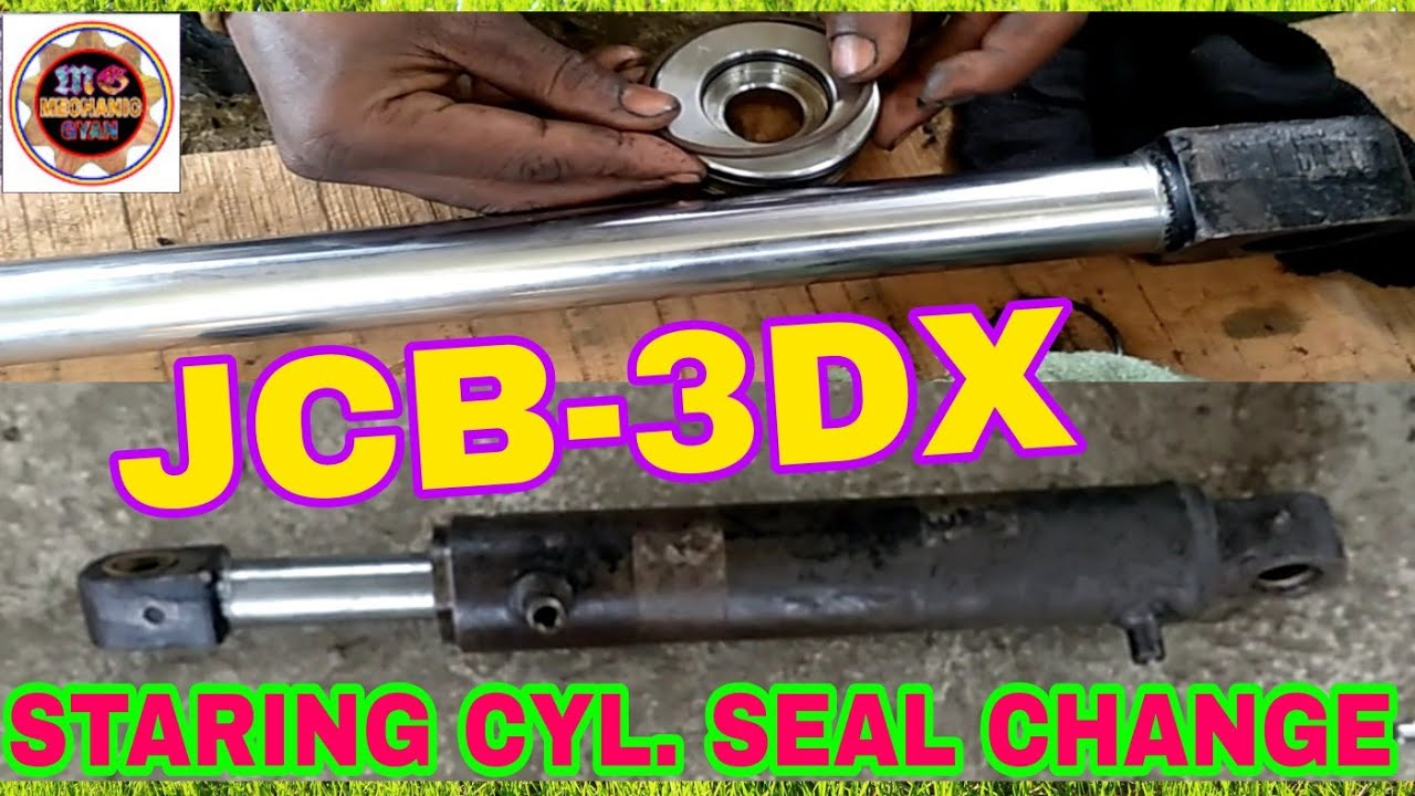 JCB-3DX Staring Cyl. <b>Seal</b> Kit Change, By Mechanic Gyan - YouTube