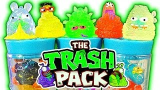 Trash Pack Series 7 JUNK GERMS Best Trashies Ever 5 &12 Pack Unboxing Toy Review