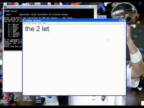 how to make bat file in notepad