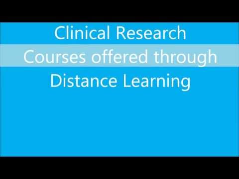 Clinical Research courses through distance education in India
