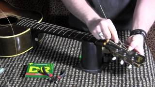 How to change strings on your acoustic guitar and tune with SNARK clip on tuner