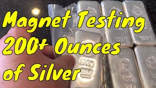 Weird Silver Wednesday Episode 8: Rare Earth Magnet testing vintage ingots & Copper with neodymium