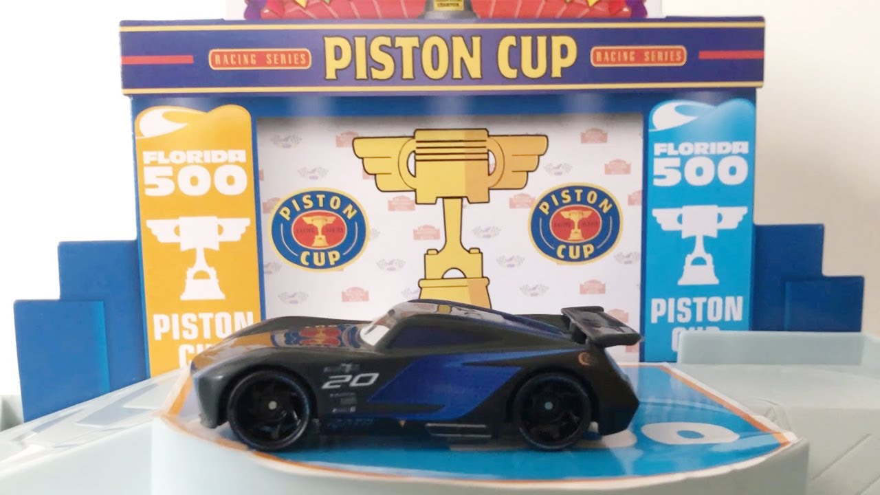 Disney Pixar Cars Florida 500 Racing Garage with Jackson Martinez Toy Car