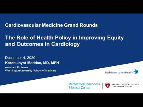 Role Of Health Policy In Improving Equity \u0026 Outcomes In Cardiology By Dr. Karen Joynt Maddox