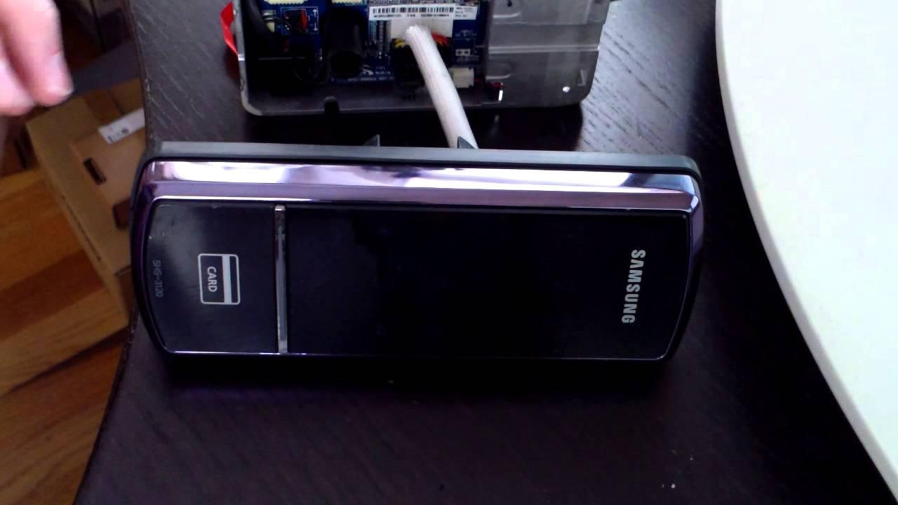 Using NFC implant to unlock Samsung Ezon SHS-3120 deadbolt door lock