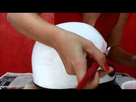 Reformando capacete com craquelê