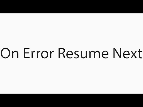 On Error Resume Next