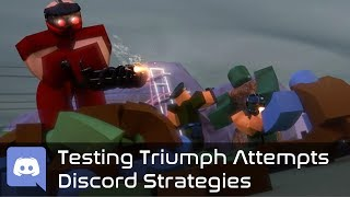 Testing out Strategies in the Triumph Attempts Discord | Tower Battles [ROBLOX]
