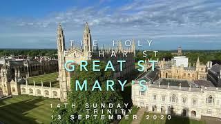 Sunday 13 September: Holy Eucharist (online)