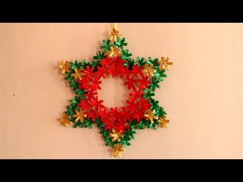 DIY Christmas Star   Christmas Wreath   DIY Christmas Decorations Ideas