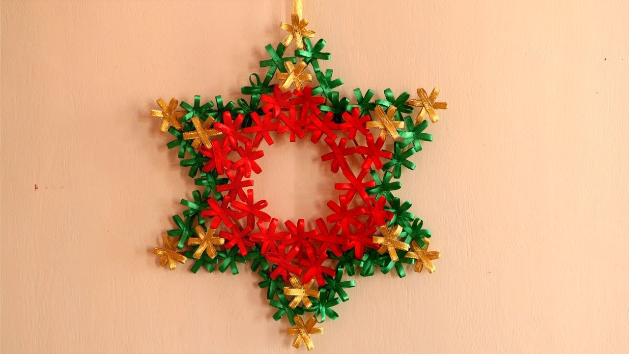 diy christmas star christmas wreath diy christmas decorations ideas - Christmas Star Decorations