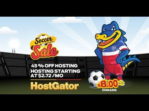 HostGator Soccer Sale Coupons Get 45% Off on Hosting - Domain 8$