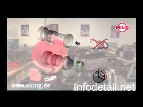Установка тефлонового сальника elring