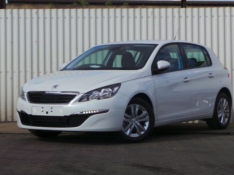 2015 15 peugeot 308 1 2 puretech 110 active 5dr in white. Black Bedroom Furniture Sets. Home Design Ideas