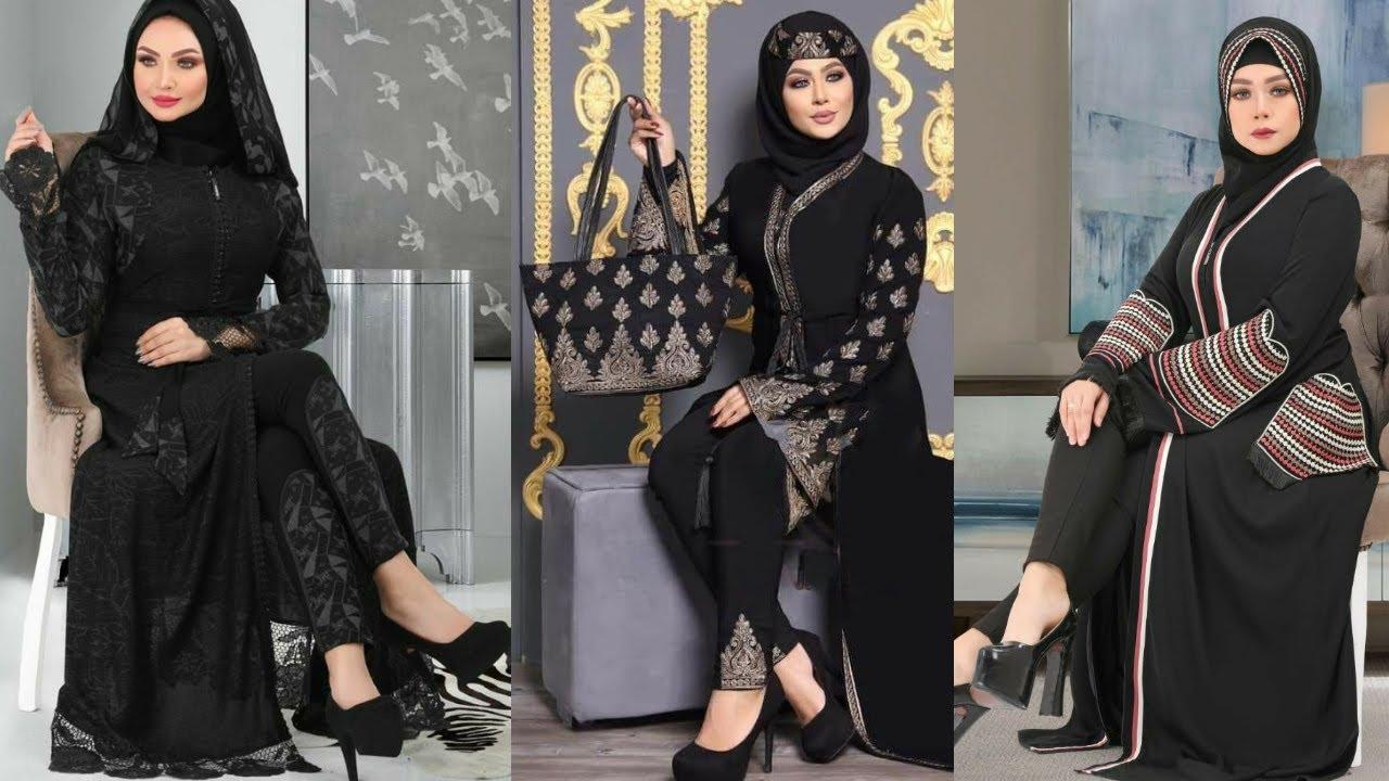 عبايات المحجبات سوداء وألوان عبايات شيك 2021 Fashion Womens Fashion Black Fashion