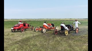 Model T Racing! We get a rare chance to see Model T's racing around a dirt track!