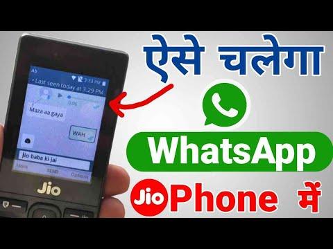 How to make whatsapp account in jio phone