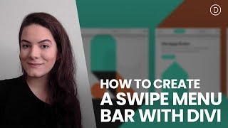 How to Create a Swipe Menu Bar for Your Website with Divi
