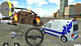 Ambulance DRIVING Game II Hospital on rooftop