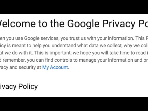 Welcome to the Google Privacy Policy