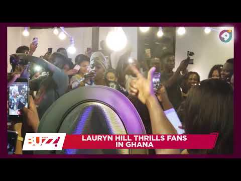 Lauryn Hill thrills fans in Ghana ! DAILY BUZZ ! !AMEYAWTV !