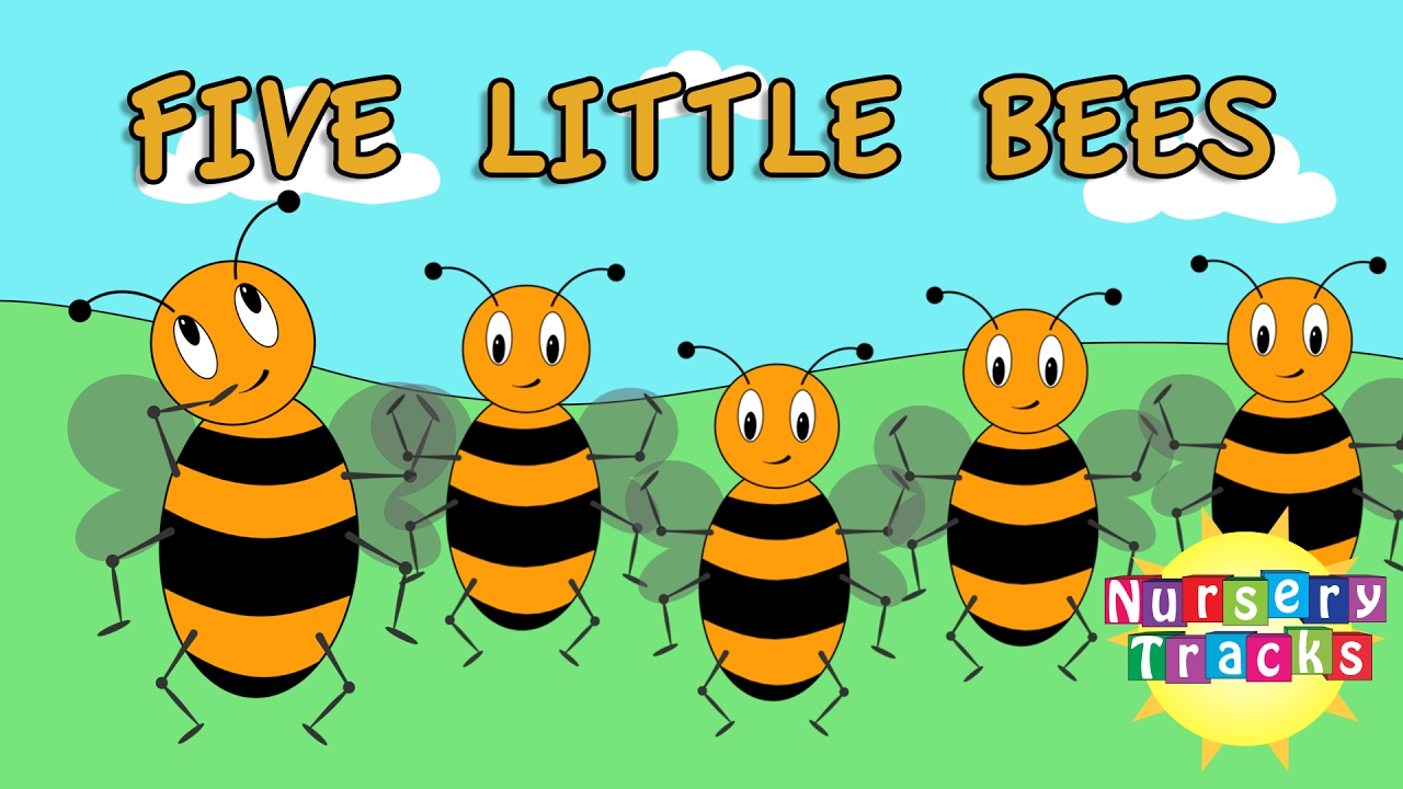 Five Little Bees | Count to Ten | Busy Bees ...