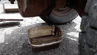 Замена масла на минитракторе кпп газ 51