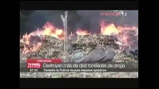 CE VRAEM DESTRUYÓ POZAS DE MACERACIÓN Y HOJA DE COCA: TV-7 19AGO17