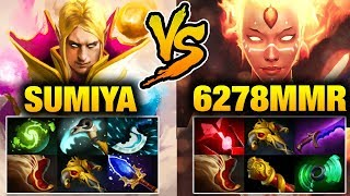 Sumiya Invoker VS 6k Enemy - Double Sunstrike Refresher Dota 2
