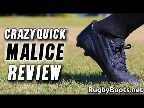 955fb2edb1fc93 Crazyquick Malice Review adidas Speed Rugby Boots - YouTube