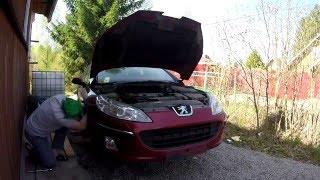 Пежо 407 Снятие бампера за 10 минут. How to remove a front bamper in 10 min.