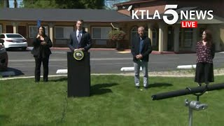 "Coronavirus: CA Gov. Gavin Newsom launches ""Project Roomkey"" to house homeless during COVID-19"