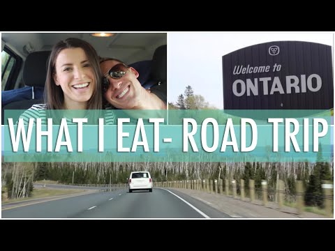 What I Eat In A Day Road Trip Vlog Edition | EASY & HEALTHY Meals