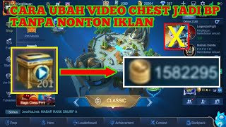 CARA MENGUBAH VIDEO CHEST JADI BATTLE POINT MOBILE LEGENDS