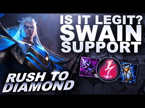 IS SWAIN SUPPORT LEGIT? CARRY MODE! - Rush to Diamond | League of Legends