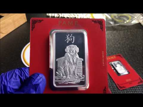 Silver Unboxing: Queens Beast, PAMP and Perth Mint Pooch From Bullion Exchanges