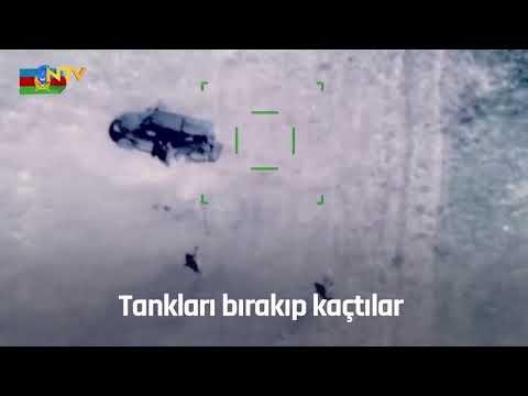 Tankları bırakıp kaçtılar (Azerbaycan ordusu Ermenistan'ın çekildiği üsse girdi)