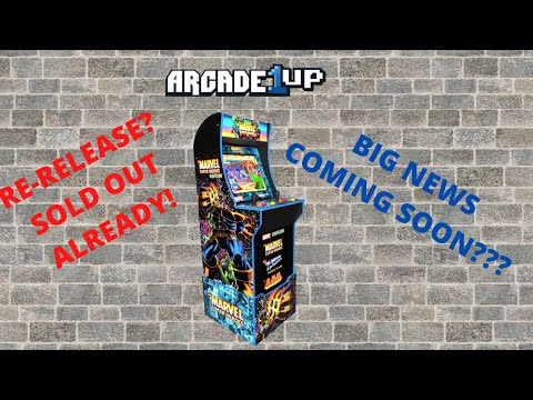 Arcade1up: Marvel Super Heroes QVC edition re-released and sold out!  Big news coming soon?? from PsykoGamer