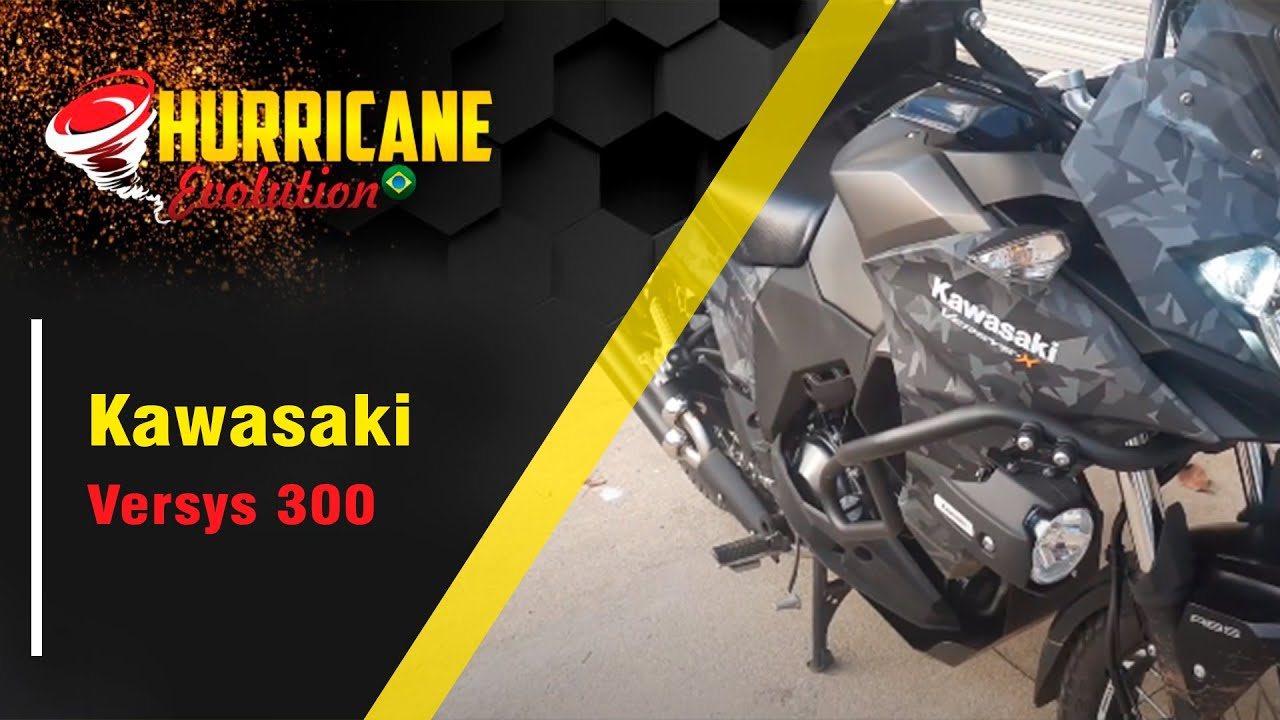 Escapamento hurrricane evolution double full completo Kawasaki Versys 300 2018/2020 cod.3036