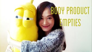 Body Product Empties(No Subtitles) Thumbnail