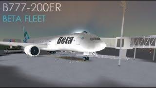 ROBLOX Beta fleet B777 Flight (Working at Beta)