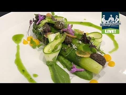 3 Michelin star chef Matt Abé cooks an asparagus with morel and wild garlic recipe