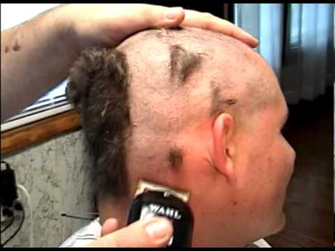 Funny shaved head