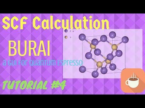 SCF Calculations using BURAI (GUI for Quantum ESPRESSO